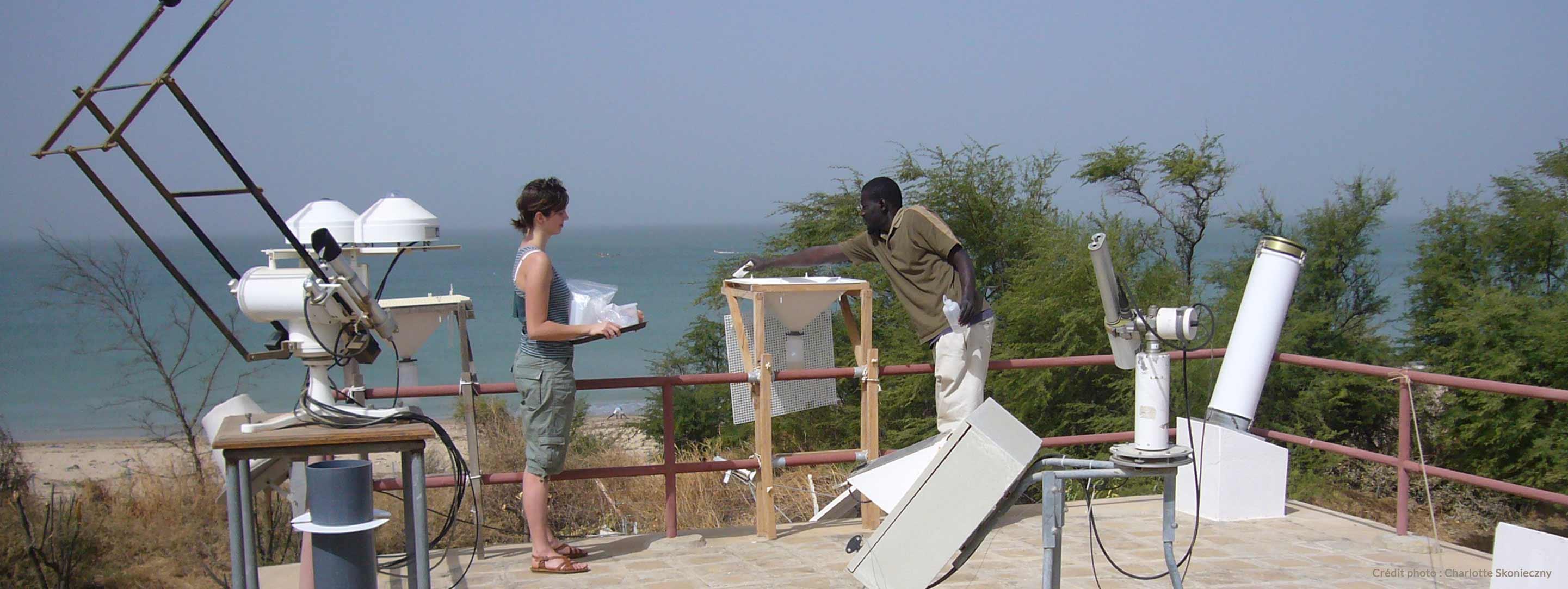 Collecte de poussières sahariennes_Station IRD Mbour Sénégal