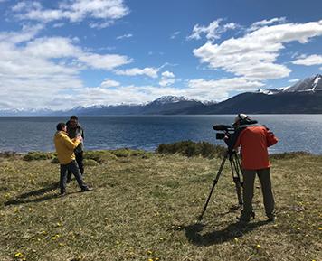 Des chercheurs de l'équipe en Patagonie